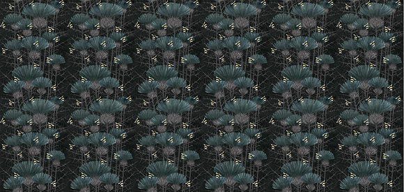 Bill's Bees - Bonnie Black - Furnishing Fabric - £89 to £119 per meter
