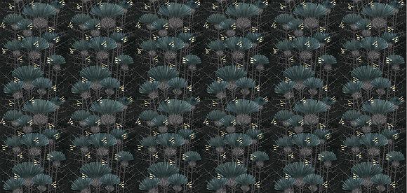 Bill's Bees - Bonnie Black - Furnishing Fabric - £89 to £119 per meter