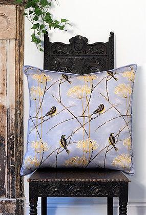 Little Finches - Vintage Violet - Velvet Cushion - £99/NOW £55