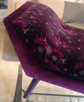 Bespoke Contemporary Velvet Chaise 2016