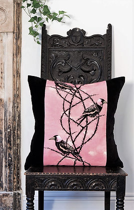 Crow Patrol - Gothic Rose - Velvet Cushion - £89/NOW £43