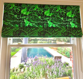 Surrey Client's Cotton Blind in Midnight Green 2020