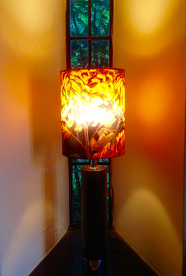 Antique Lampstand and Shade, 2018
