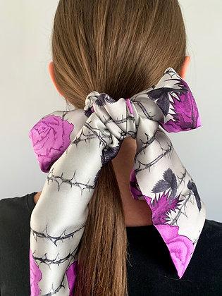 Rosabunda Silk Scarf in Venetian Purple