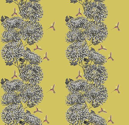 Chrysanths Japonais - Peking Gold - Silk or Cotton - £89 to £119 per meter