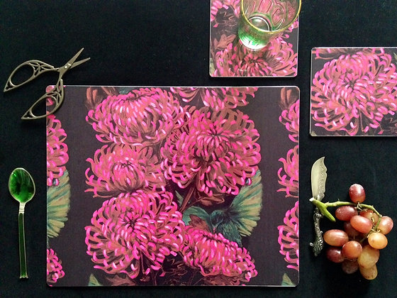Chrysanths Nuit- Placemat (£16)
