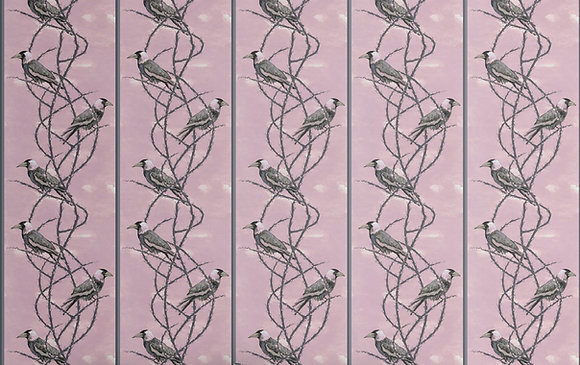 Crow Patrol - Gothic Rose - Velvet Furnishing Fabric - £119 per meter