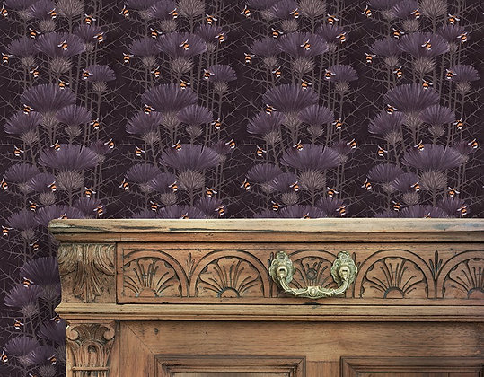 Bill's Bees - Highland Peat - Wallpaper - £99 per roll