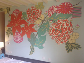 Stage 3: Bespoke Bedroom Wall Painting, 2017