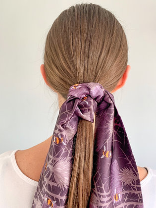Bill's Bees Silk Scarf in Highland Peat
