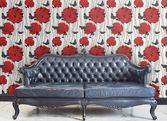 Rosabunda - Spanish Red - Wallpaper - £99 per roll