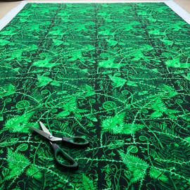 Secret Hedgerow in Midnight Green cotton Green - 2020.