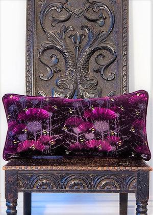 Bill's Bees - Highland Purple - Velvet Cushion -£59/NOW £35