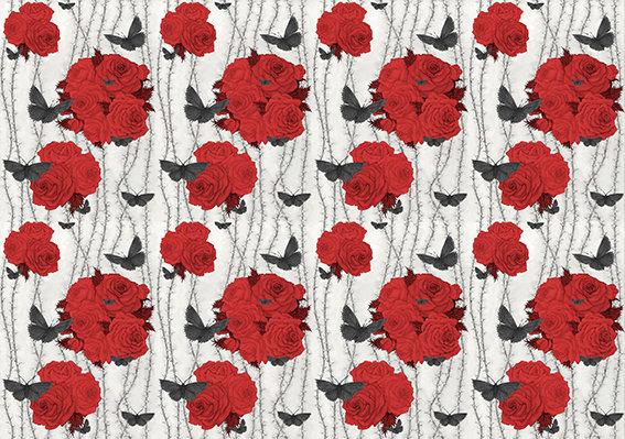 Rosabunda - Spanish Red - Silk Furnishing Fabric - £119/NOW £59  per meter