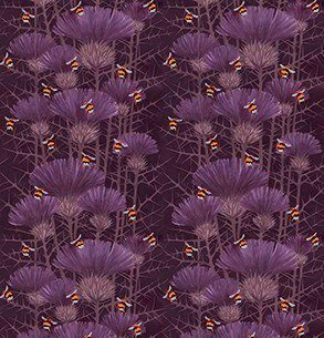 Bill's Bees - Highland Peat - Furnishing Fabric - £89 to £119 per meter