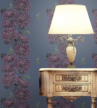 Chrysanths Japonais - Empress Pink - Wallpaper - £99 per roll