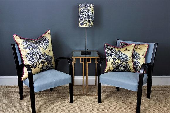 Chrysanths Japonais - Peking Gold - Silk Cushion - £69/NOW £39
