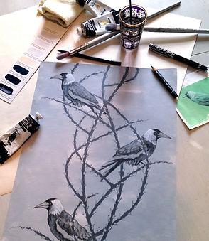Original artwork for Crow Patrol