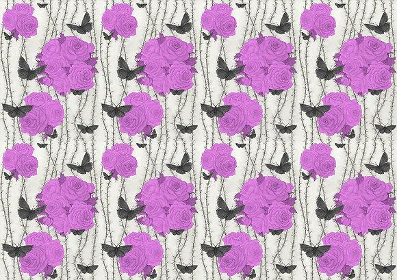 Rosabunda - Venetian Purple - Silk Furnishing Fabric - ON SALE NOW £59 per meter