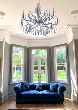 Blue Library in Guildford Private Home October 2019