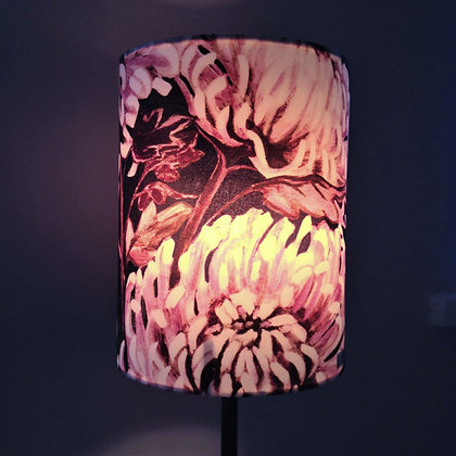 Chrysanths Nuit - Blush - Silk Shade - £65/NOW £33