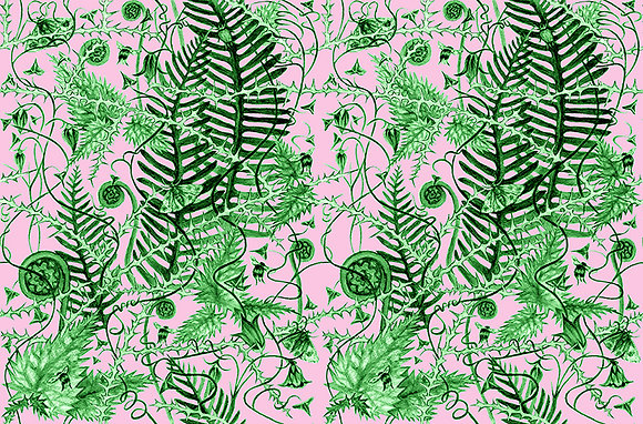 Secret Hedgerow - Green Nettle - fabrics by the meter - £89 to £119