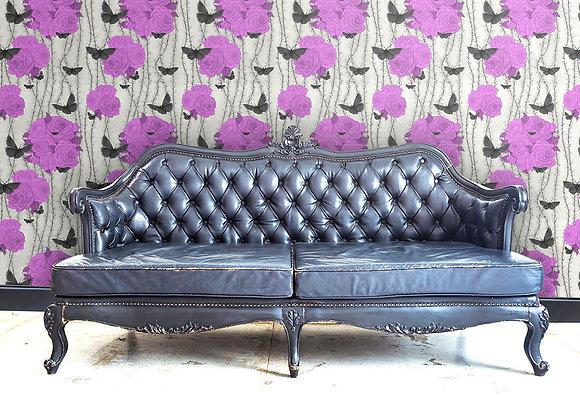 Rosabunda - Venetian Purple - Wallpaper - £99 per roll