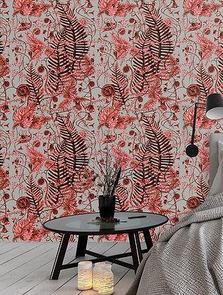 Secret Hedgerow - Autumn Bronze - Wallpaper -£99 per roll