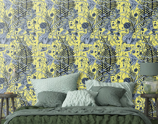 Secret Hedgerow - Wild Primrose - Wallpaper - £99 per roll