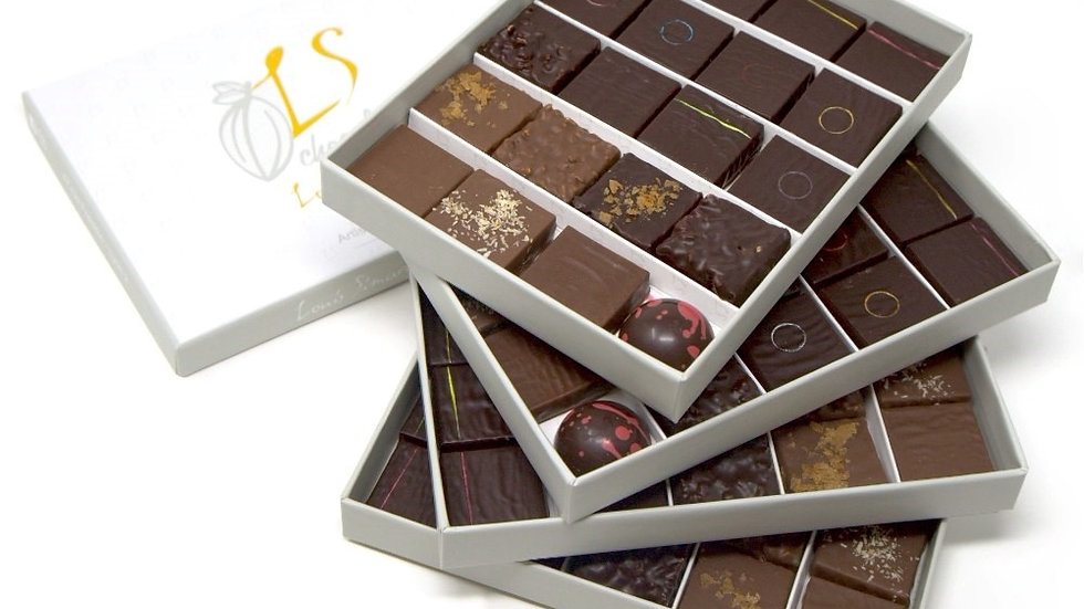 Coffret 80 chocolats assortis