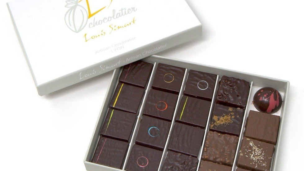 Coffret 20 chocolats assortis
