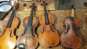 Les différents états d'un violon ou d'un archet
