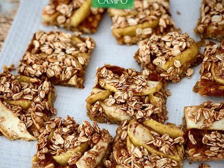 Prepara estas deliciosas Apple            Bars Orgánicas