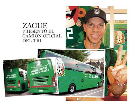 ZAGUE presentó el camión oficial del TRI