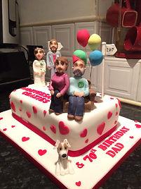 2 in 1 Cake Anniversary & Birthday cake
