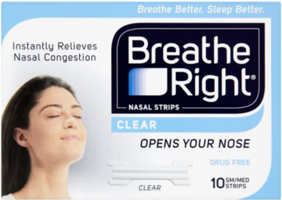 Breathe Right Strips click here