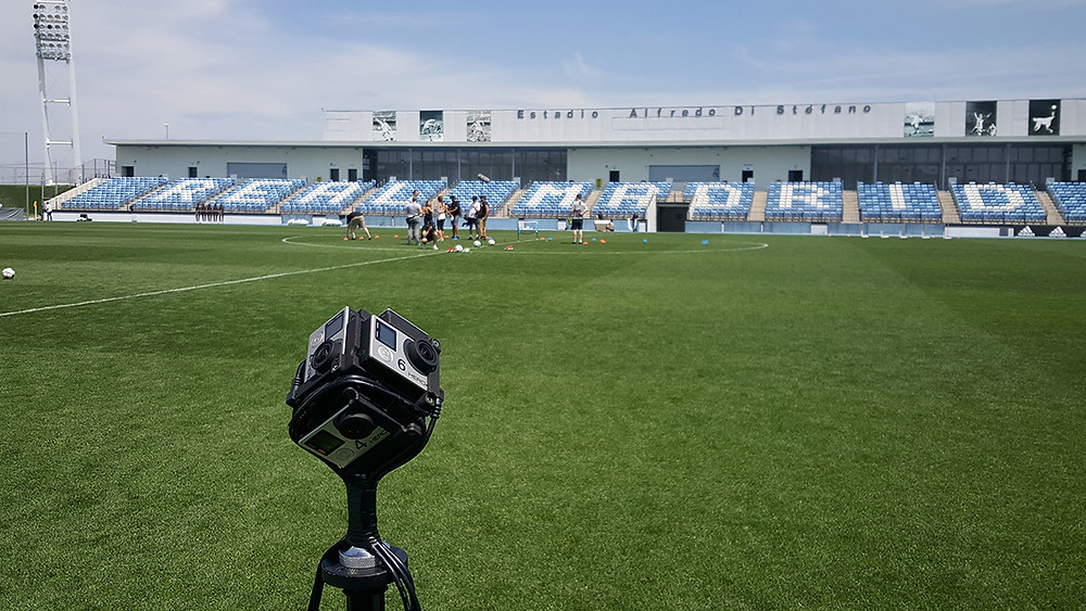 360 filming at Real Madrid for Adidas