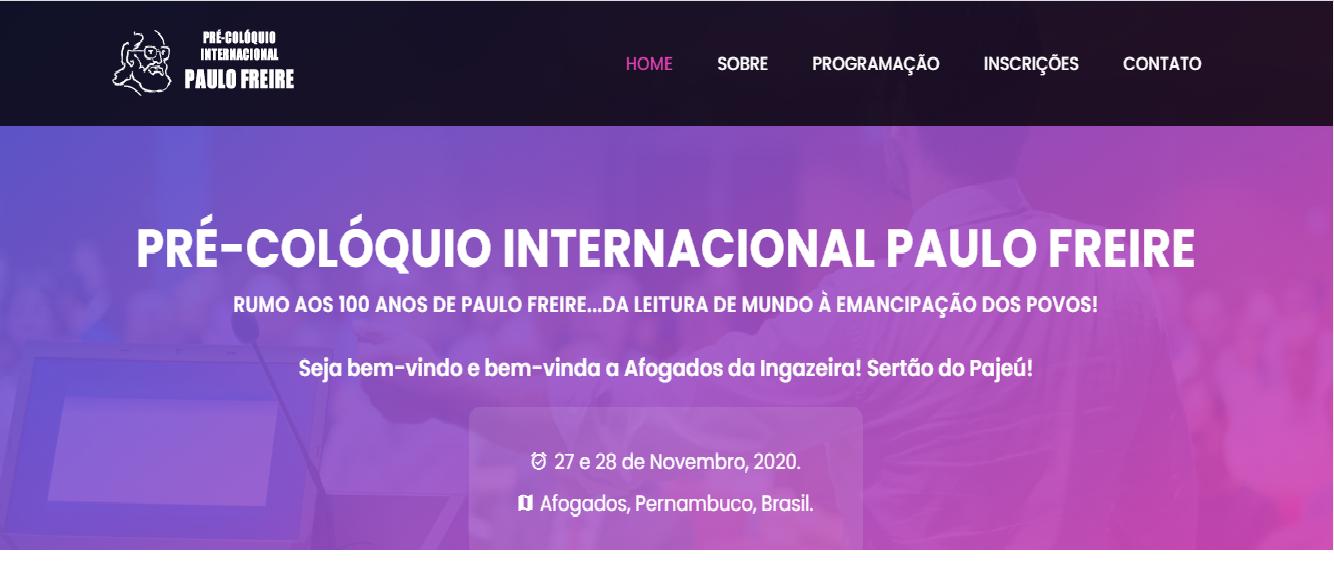 Pré - Colóquio Internacional Paulo Freire