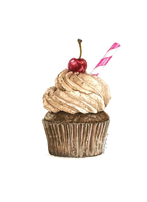 Malted Milk Delight Cupcake