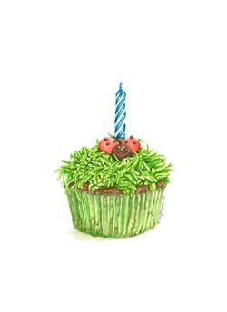 Ladybug Fun Cupcake