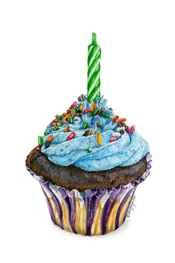 Happy b'day cupcake