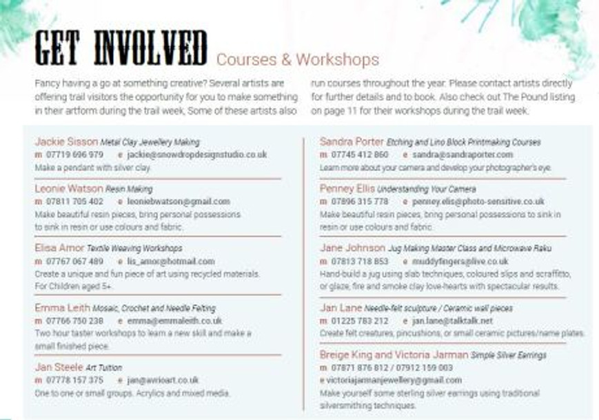 courses and workshops