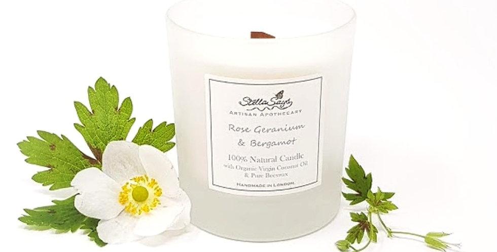 Geranium & Bergamot Organic Home Candle