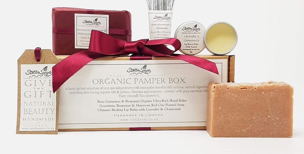 Organic Pamper Box Mini - Rose Geranium & Bergamot