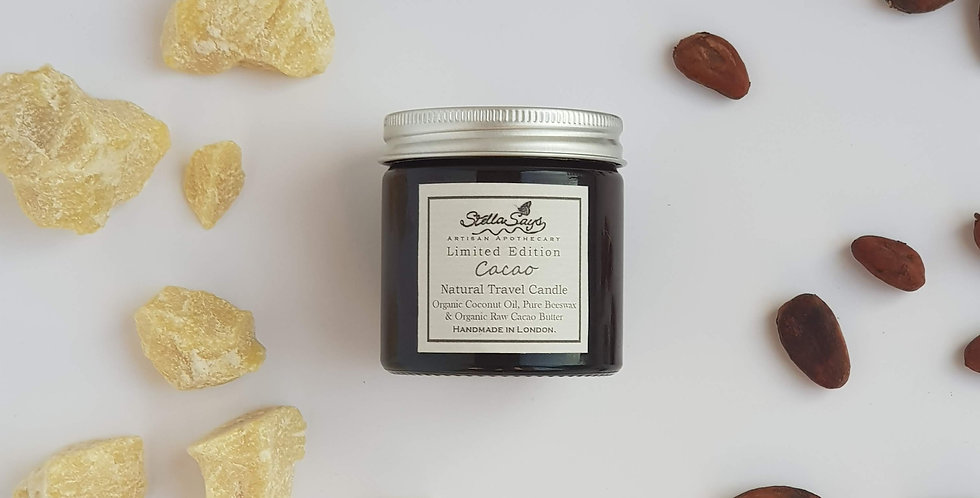 Raw Cacao Organic Travel Candle