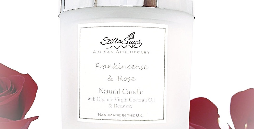 Frankincense & Rose Organic Home Candle