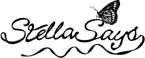 Stella Says logo; Butterfly