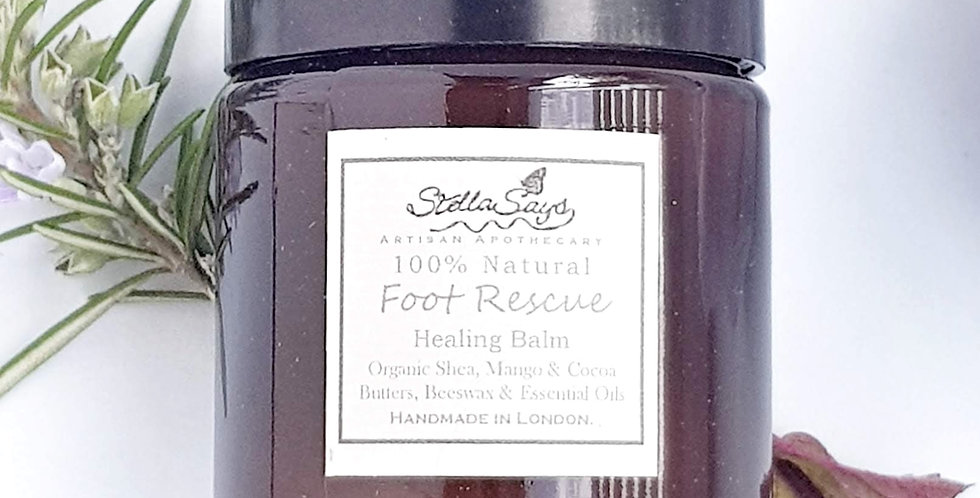 Organic Foot Rescue Balm with Verbena, Peppermint & Rosemary
