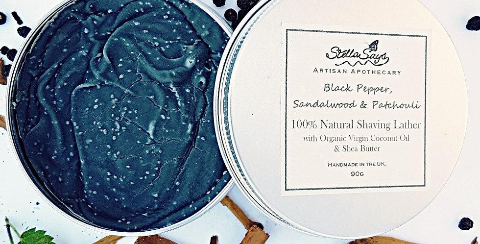 Black Pepper, Sandlewood & Patchouli Shaving Soap