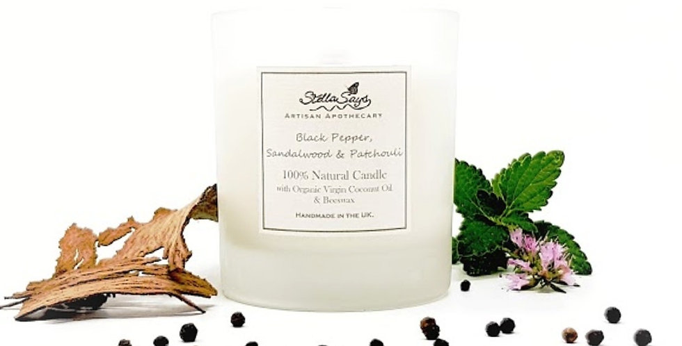Black Pepper, Sandalwood & Patchouli Organic Home Candle